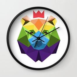 Hyruler Gay Bear Geometric Wall Clock