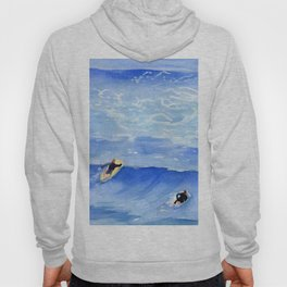 Getting ready to take this wave surf art Hoody