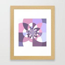 Mauve Lavender Puce Kaleidoscope Framed Art Print
