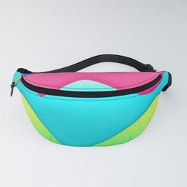 lines curves colors geometric rainboe Fanny Pack