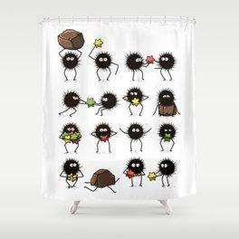 Susuwatari family Shower Curtain