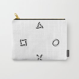 Playstation Symbols - Impossible Geometry - Square Carry-All Pouch
