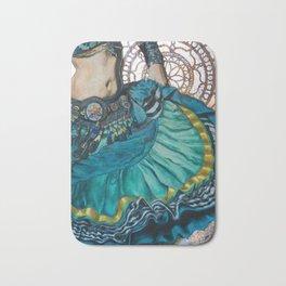 Turquoise Twirling Bath Mat