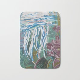 Jellyfish, beautiful water world decorate your home or office and be reminded of the summer Bath Mat