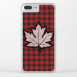 Plaidly Canadian Clear iPhone Case