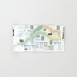 BLM - Detailed Rogue River Overview Map (2018) Hand & Bath Towel