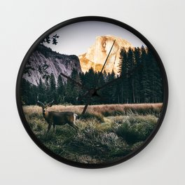 Yosemite Valley Buck Wall Clock