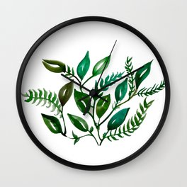 Green Salad Wall Clock