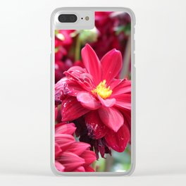 Blooming Red: Imperfectly Perfect Clear iPhone Case