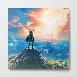 Zelda Breath of the Wild Metal Print