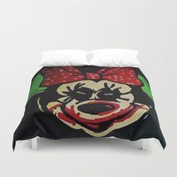 minnie mouse Duvet Covers featuring Minnie Mouse by Jide