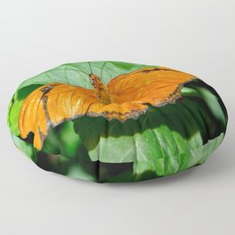 Small Orange and Black 'Julia' Butterfly Floor Pillow