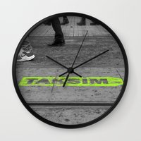 street Wall Clocks featuring street by habish