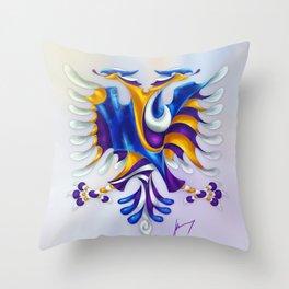 Kosovar (Albanian) Eagle Throw Pillow