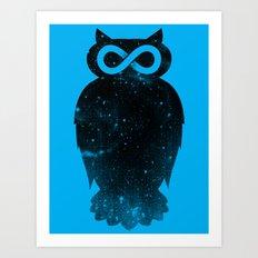 Owlfinity  Art Print