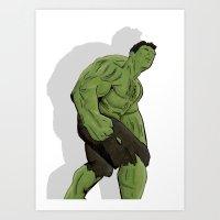 hulk Art Prints featuring Hulk by  Steve Wade ( Swade)