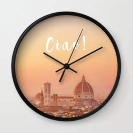 Ciao Florence! Wall Clock
