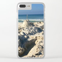 Castle in the Sand Clear iPhone Case
