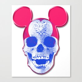 Mickey Mouse Skullface (aka Norman Bates' Dad) Canvas Print