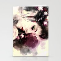 geisha Stationery Cards featuring Geisha by Vincent Vernacatola