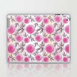 Pink roses. Laptop & iPad Skin