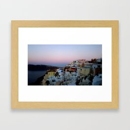Dawn of Santorini Greece Framed Art Print