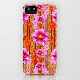 Lilac Purple Dahlia Garden Art iPhone Case