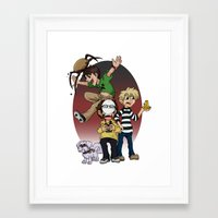 pewdiepie Framed Art Prints featuring Sup Bro Audience  by Always Dreah Illustration