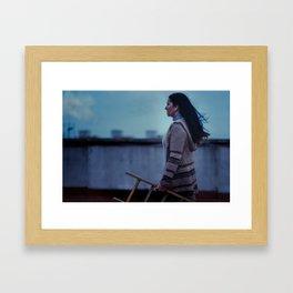 Escalera Framed Art Print