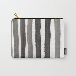 Grey Stripe Abstract Painting Carry-All Pouch