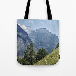 Silberhorn Mountains And Glacier. 3.695meters. Lauterbrunnen Valley. Alps. Switzerland Tote Bag
