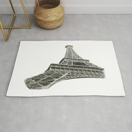 Eiffel Tower Sketch  Rug