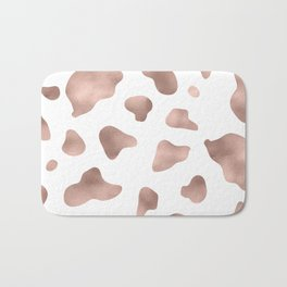 Rose gold cow print Bath Mat