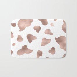 Rose gold cow print Bath Mat
