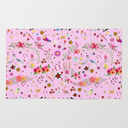 Say I love you with flowers Rug