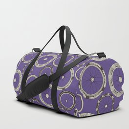 bike wheels violet Duffle Bag