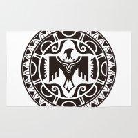 maori Area & Throw Rugs featuring Maori and Polynesian style mix tribal. by TurkeysDesign