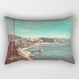 San Francisco Bay from Golden Gate Bridge Rectangular Pillow