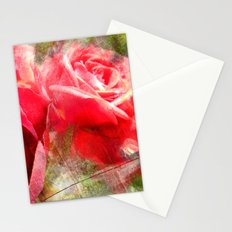 Red Roses Bouquet Stationery Cards