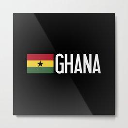 Ghana: Ghanaian Flag & Ghana Metal Print