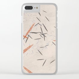 Falling Pins Autumn Speckles Clear iPhone Case