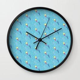 Lemon Sorbet - Tropical Ice Creams in Swimming Pool Repeat Pattern Wall Clock