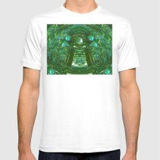 Abstract Gazebo MEDIUM Mens Fitted Tee White