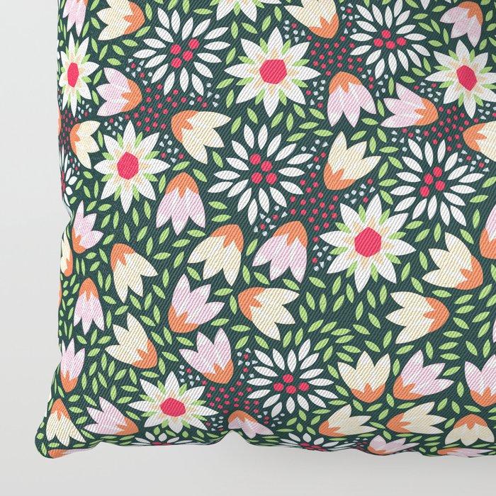 Bed of Flowers Floor Pillow