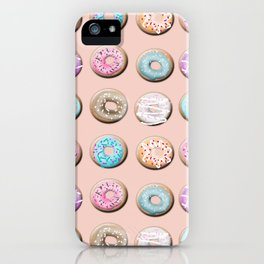 Donuts, pink iPhone Case