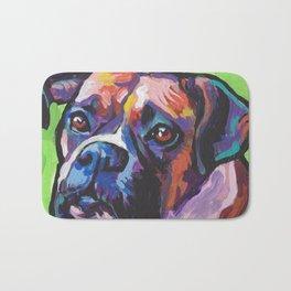 Fun BOXER Dog bright colorful Pop Art Painting by Lea Bath Mat