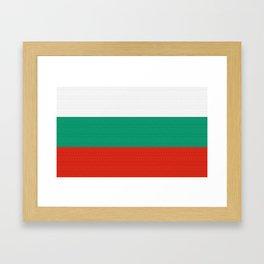 Bulgaria Flag (Canvas Look) Framed Art Print