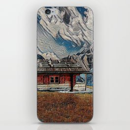 Old cabins on the Alpins iPhone Skin