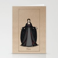 valar morghulis Stationery Cards featuring Este by wolfanita