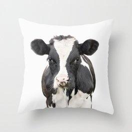 Cow Art Throw Pillow